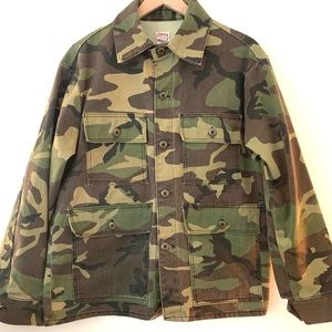 Made in USA Chore Coat in Camouflage Duck Canvas